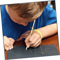 Practice Spelling Words with Scratch-Off Paper