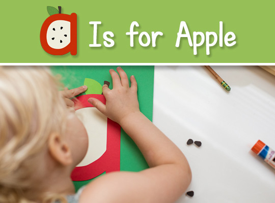 A Is for apple craft graphic