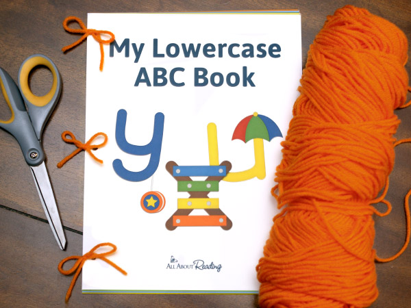 Completed Lowercase ABC Book put together