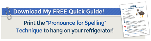 download our pronounce for spelling quick guide