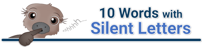 header for 10 words with silent letters