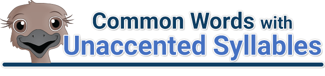 header for common word with unaccented syllables