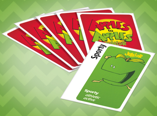 Cards from apples to apples game