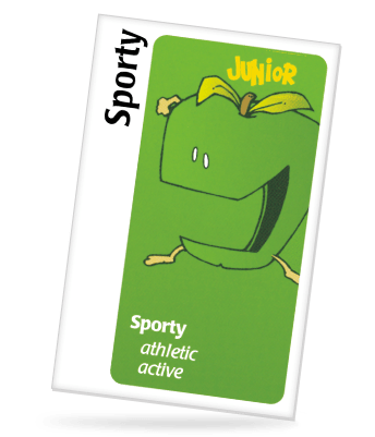 sporty card from apples to apples game