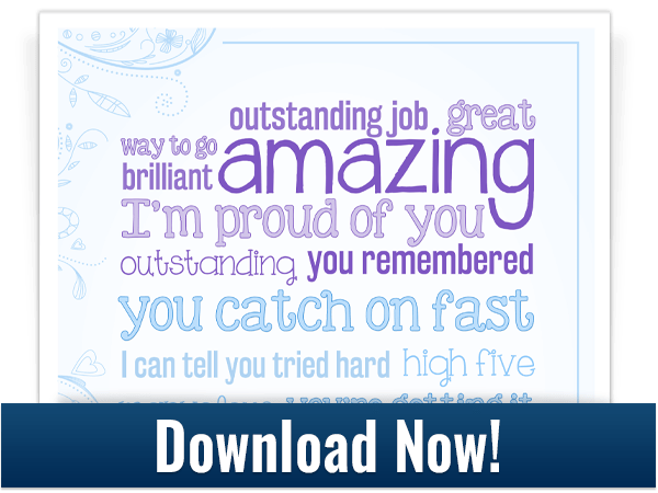 download encouraging words poster
