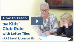 video preview of teaching kids club rule