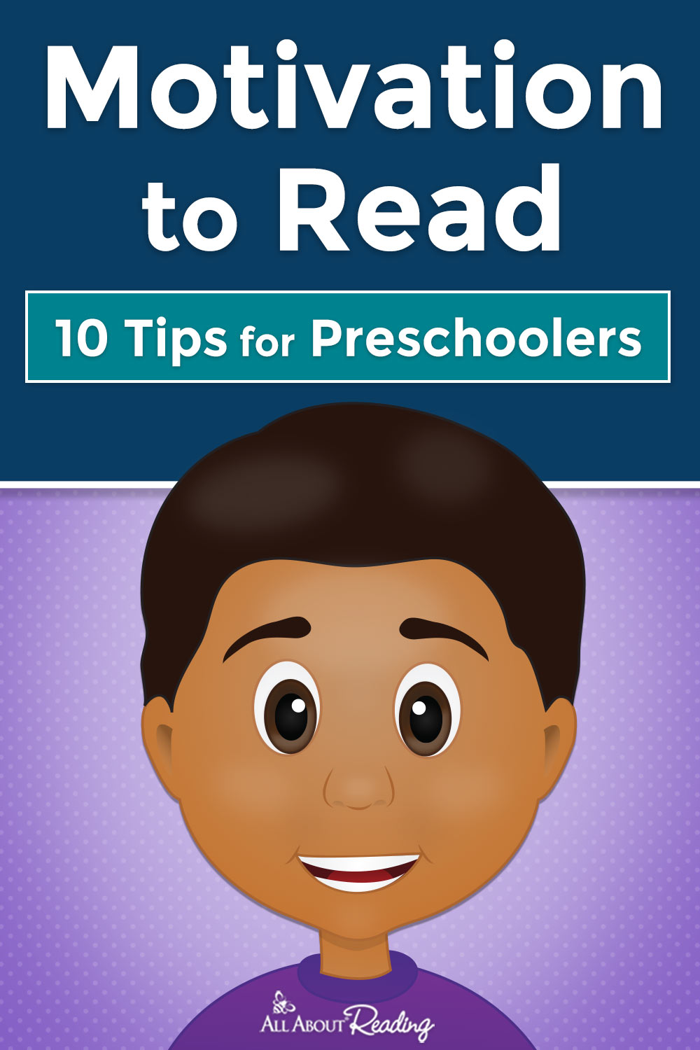 motivation to read for preschoolers pinterest graphic