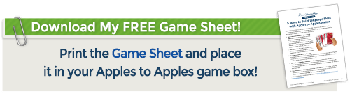 Download the Apples to Apples Game Sheet here