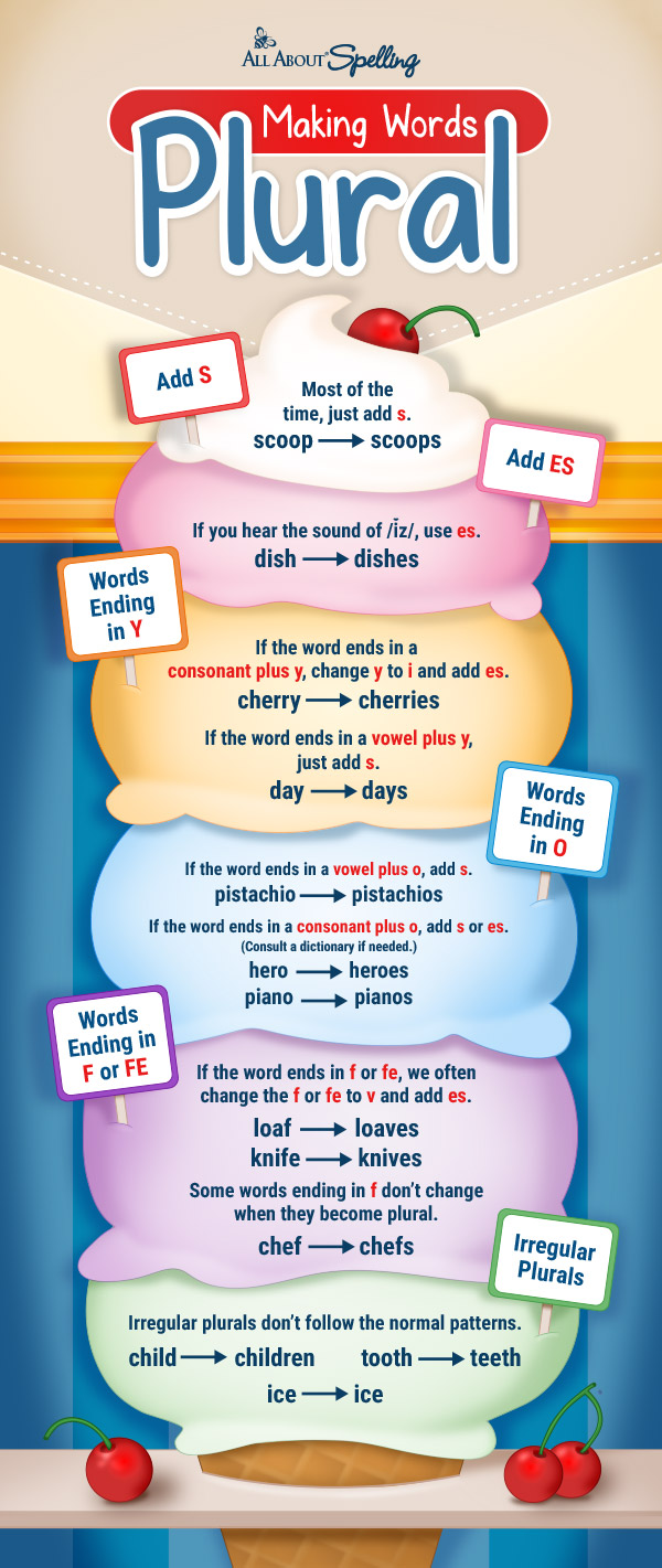 Spelling Rule for Making Words Plural poster
