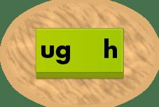 ug / h phonics domino tile