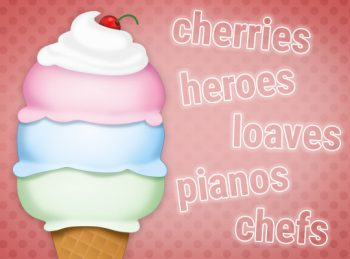ice cream cone rules making words plural