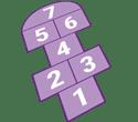 Hopscotch game board