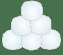 Stack of snowballs