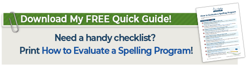 Click to download How to Evaluate a Spelling Program Quick Guide
