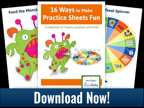 Click to download 16 fun practice sheet activities