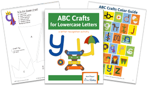 page spread from the abc crafts lowercase series download