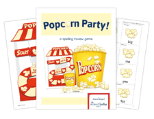 popcorn party activity for spelling success