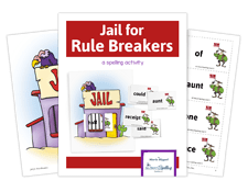 Jail for Rule Breakers activity for spelling success