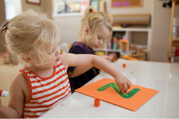 children work on their lowercase z craft