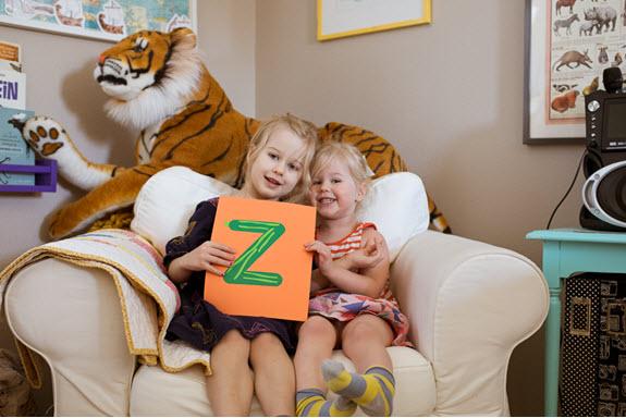 children display their lowercase z craft