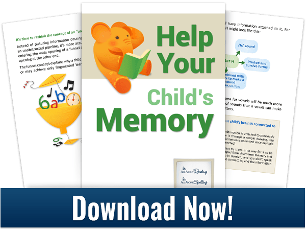 """Pages from """"Help Your Child's Memory"""" e-book"""
