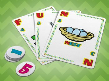 cards and game pieces from Quiddler Junior