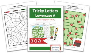 Tricky Letters Lower Case A activity