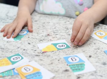 child working on a lowercase letter activity