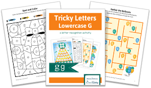 Tricky Letters Lower Case G activity