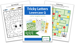 Tricky Letters Lower Case Q activity