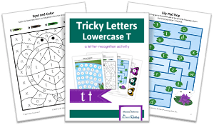 Tricky Letters Lower Case T activity