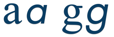 different forms of lowercase a and g