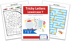 Tricky Letters Lower Case Y activity