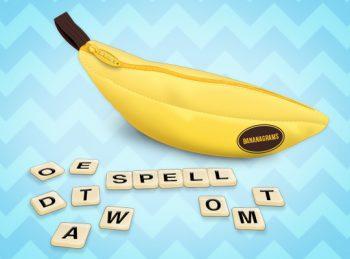 bananagrams game pieces