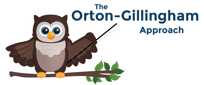 """Owl pointing to the words """"The Orton-Gillingham Approach"""""""