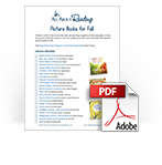 Picture Books for Fall library checklist download