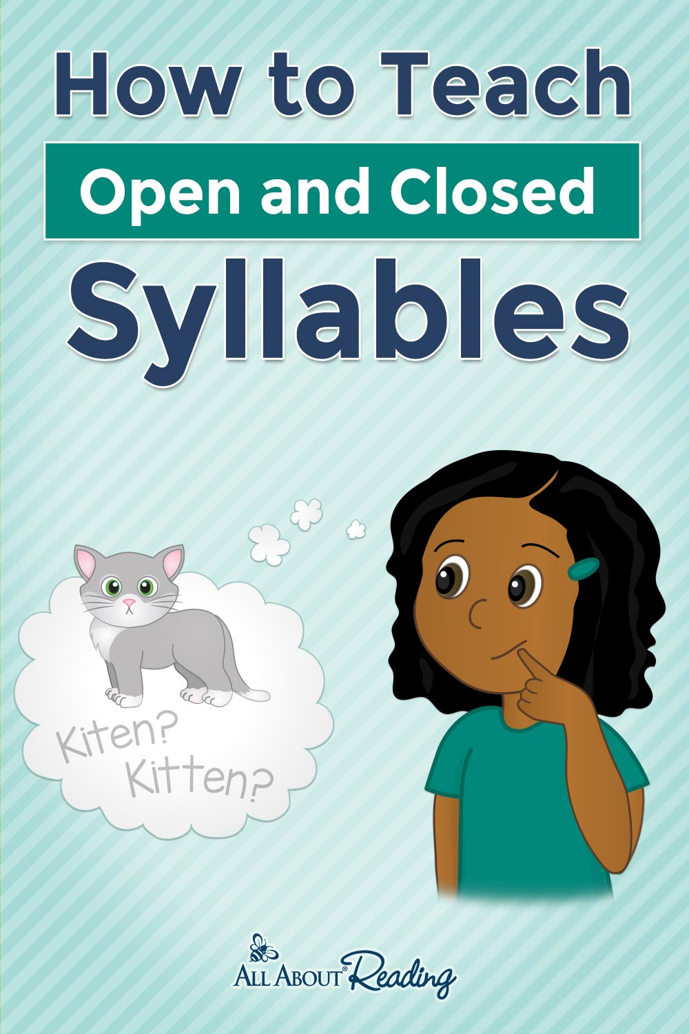 how to teach syllables pinterest graphic