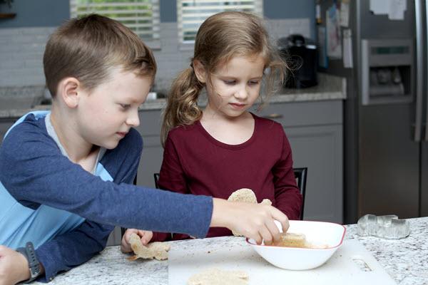 children making french toast