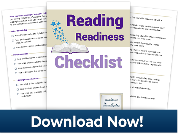 Download graphic for Reading Readiness Checklist - click to download