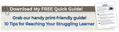 struggling learner quick guide graphic