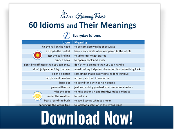 60 Idioms and their meanings download graphic