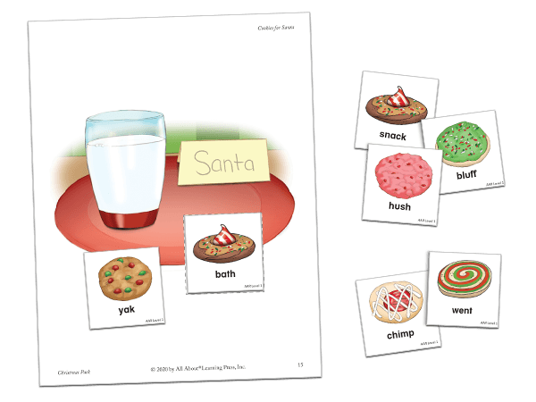 christmas pack cookies for santa activity preview