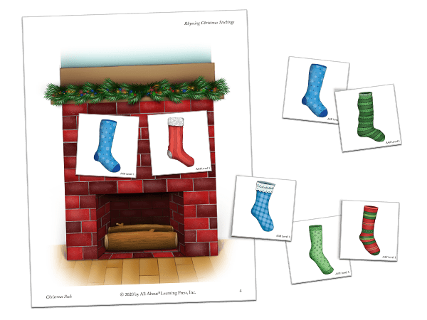 christmas pack rhyming stocking activity preview