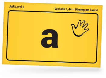 all about reading phonogram card with the sound of a on it